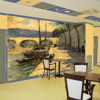 Peinture murale d coration murale fresque art mural paris for Decor mural panoramique